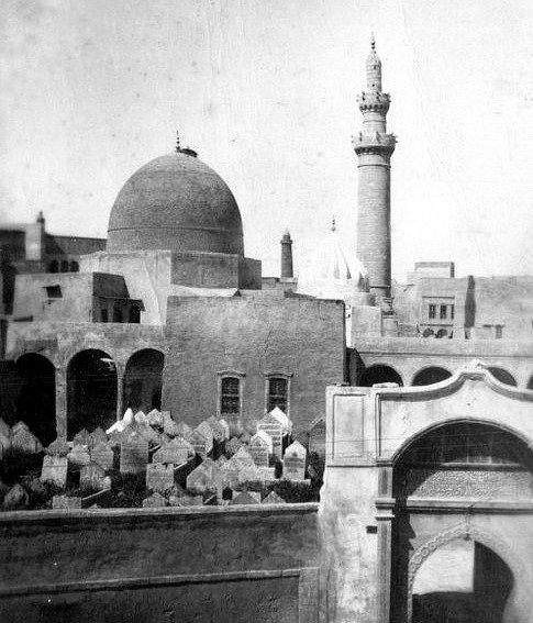 Pozdně středověká mešita Nabi Džirdžis na historickém snímku