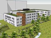 Tak by měl vypadat nový pavilon psychiatrie, který bude vystaven v lochotínském areálu nemocnice