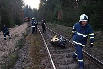 Železniční nehoda na přejezdu u Kaznějova