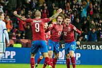 Česká fotbalová reprezentace hrála v Plzni na podzim 2019 proti Kosovu.