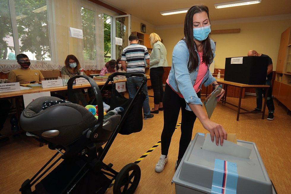 Krajské a senátní volby v Plzni-Černicích.
