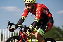 Po desátém místě na nedávném mistrovství ČR v silniční cyklistice se Tomáš Radolf(na snímku) protlačil mezi nejlepší i při Giant lize v Plzni.
