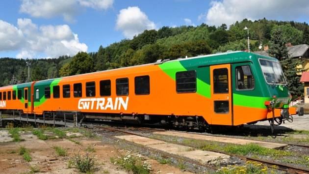 Vlak 628.2 společnosti GW Train Regio.