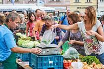 Farmářské trhy na náměstí Republiky v Plzni