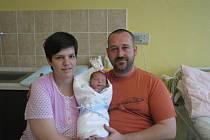 Rodiče Kateřina a Václav Hajnovi z Plzně chovají Václava (4,40 kg, 53 cm). Jejich prvorozený syn přišel na svět 16. ledna v 11:11 v plzeňské Mulačově nemocnici