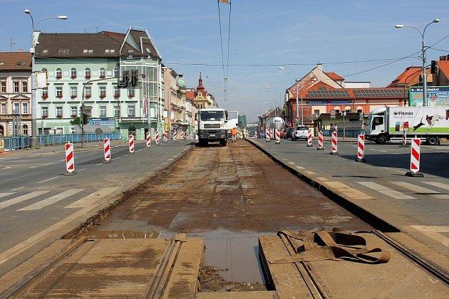 Rekonstrukce tramvajové trati linky č. 4