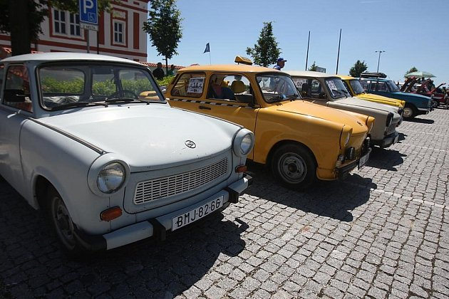 Výstava Trabantů v Mariánské Týnici
