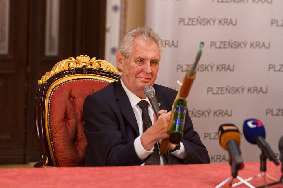 Miloš Zeman v Nepomuku.
