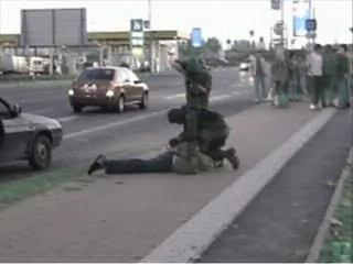 Snímek z videa, které pořídil přímo jeden z aktérů