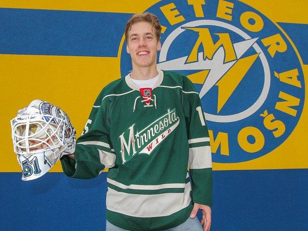 Aleš Stezka, osmnáctiletý odchovanec Meteoru Třemošná, byl draftován v NHL celkem Minnesota Wild