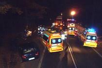 Nehoda na silnici I/27 u křižovatky na Horní Břízu