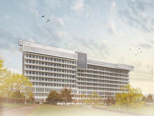 Architektka Eva Jiřičná navrhla nástavbu pro hematologicko-onkologické oddělení FN Plzeň.