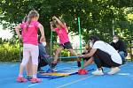 Sportovní hry mateřských škol v 78. MŠ v Sokolovské ulici na Lochotíně.