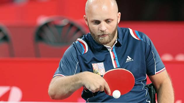 Petr Svatoš na paralymijských hrách v Tokiu.