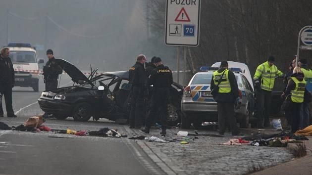 Nehoda ve Vejprnické ulici v Plzni