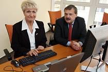 Budoucí hejtmaka Milada Emmerová a séf krajské ČSSD Václav Votava při on-line rozhovoru Plzeňského deníku