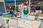 Plzeň, Bory, Tesco, Kaufland, sbírka potravin
