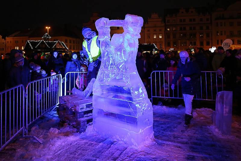 Ledové sochy náměstí Republiky
