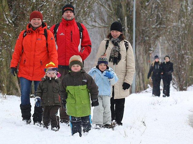 Sněhová nadílka v Plzni