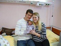 Rodiče Petra a Jiří Knotkovi z Plzně chovají syna Honzíka (3,90 kg, 53 cm). Jejich prvorozený chlapeček přišel na svět 23. ledna v 10:39 v plzeňské fakultní nemocnici