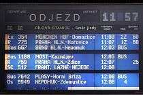 Šedesátiminutové zpoždění se u vlaků příliš často nevidí, navíc když to jsou vlaky mezinárodní. Včera se ovšem nedalo nic dělat. Navíc byly soupravy, které vůbec nevyjely, jako třeba Pendolino