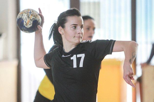 Linda Galušková, nejlepší střelkyně DHC Plzeň proti Otrokovicím