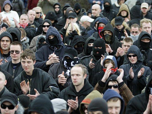 Pochod pravicových radikálů v Plzni