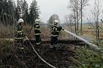 Z místa požáru. Foto: hasiči Domažlice
