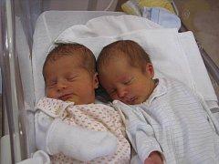 Veronika (3,21 kg, 50 cm) přišla na svět 7. února v 11:36 ve Fakultní nemocnici v Plzni. Její bráška Vítek (3,22 kg, 50 cm) se narodil v 11:42. Ze svých dětí se radují rodiče Martina a Radek ze Štěnovic