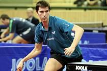 Odchovanec dobřanského stolního tenisu David Reitšpies (na snímku), nyní už v barvách El Niňa Praha, vybojoval o víkendu v Plzni titul juniorského mistra republiky