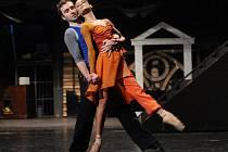 Ze zkoušky baletu Zvoník od Matky boží, který bude mít premiéru v plzeňském Velkém divadle tuto sobotu (na snímku Zuzana Pokorná v roli Esmeraldy a Martin Šinták jako voják Phoebus)