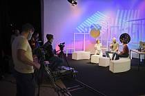 Studio Streampoint v DEPO2015 bylo základem živých přenosů první části filmového festivalu Juniorfest.