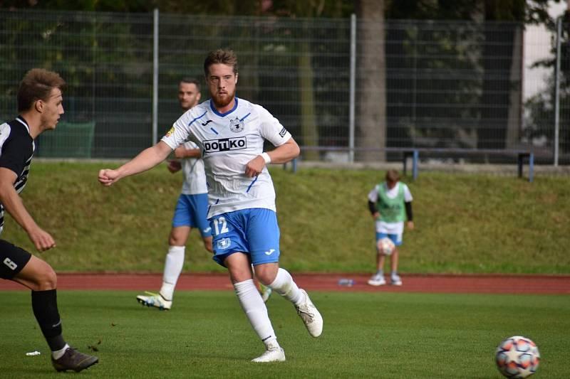 Václav Uzlík v utkání s Admirou.