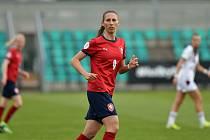 MIROSLAVA MRÁZOVÁ na snímku v dresu české reprezentace v zápase se Švýcarskem.