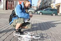 Natáčení plzeňských památek s pomocí dronu