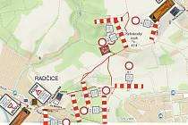 Kvůli stavbě městského okruhu budou zavřeny komunikace u Radčic.