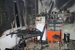 Ranní požár ve Žlutické ulici.
