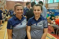 Stolní tenistka Helena Sommerová s trenérkou výběru Plzeňského kraje Danielou Smutnou.