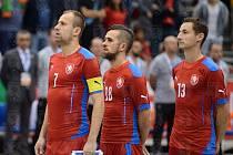 Poslední zápas v reprezentaci odehrál Lukáš Rešetár (vlevo) loni v říjnu v kvalifikaci o MS proti Portugalsku, pak se zranil, ale nyní se do národního mužstva vrací.