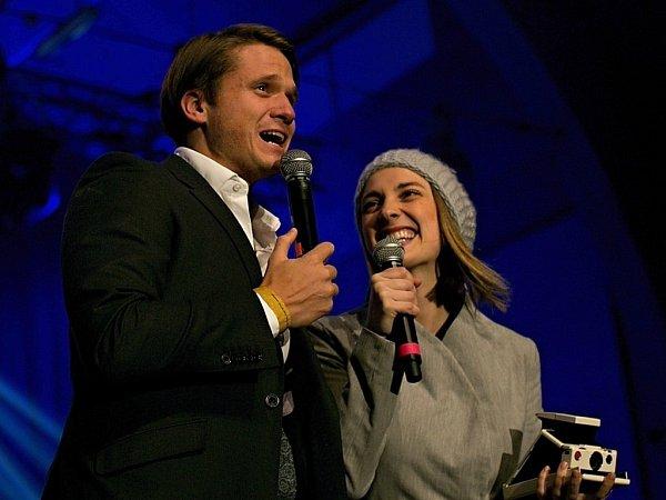 Ondřej Brzobohatý a Bára Poláková na Žebříku 2014