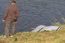 Policisté ve středu dopoledne v řece u Štruncových sadů vylovili mrtvolu mladého muže