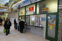 Česká pošta na Centrálním autobusovém nádraží v Plzni