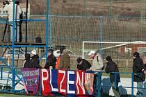 Utkání sledovali fanoušci z kotle Viktorie