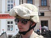 Beseda s veterány v Měšťanské besedě. Na snímku Hubert Rauw