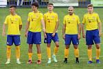 7. kolo FORTUNA divize A: SK SENCO Doubravka (žlutí) - TJ Sokol Lom (modří) 4:5.