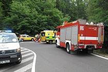 Při dopravní nehodě u Červeného Hrádku zemřel motorkář
