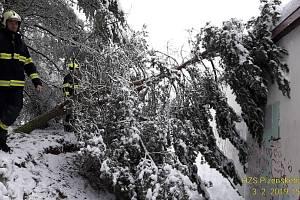 6d405bc11e2 Během neděle vyjížděli hasiči k několika stovkám popadaných stromů.