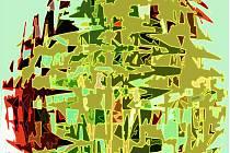 Velikonoční motiv v abstraktním pojetí.