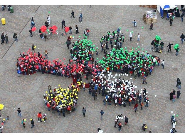 Apriliáda na náměstí Republiky v Plzni