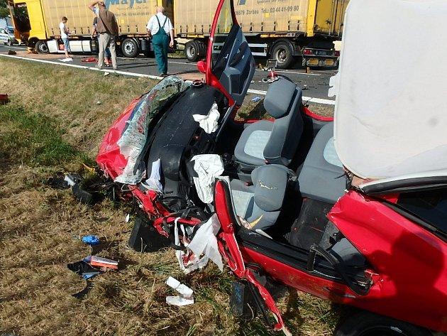 Tragická nehoda u Horní Lukavice.